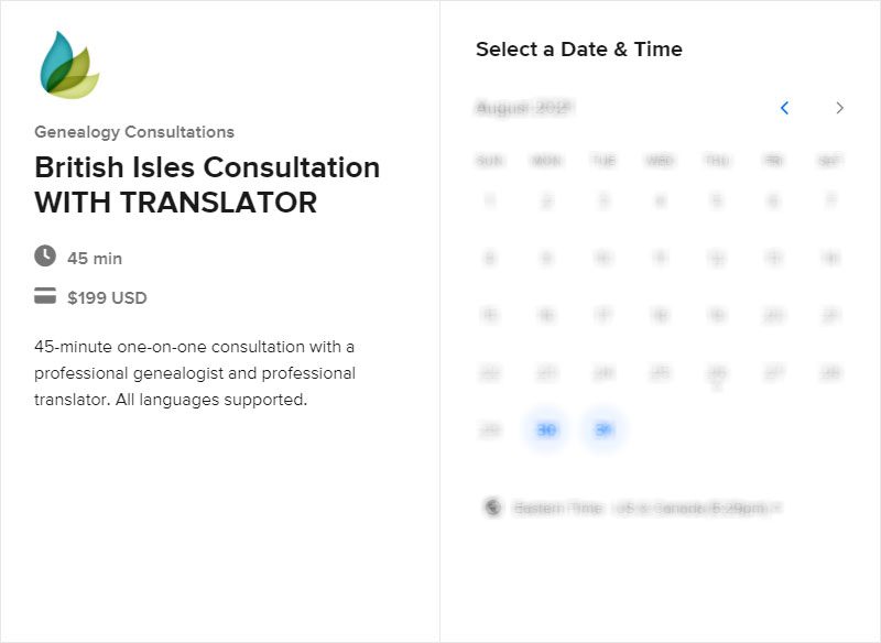 Schedule a British Isles Consultation with Translator