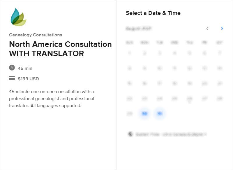 North America Consultation with Translator