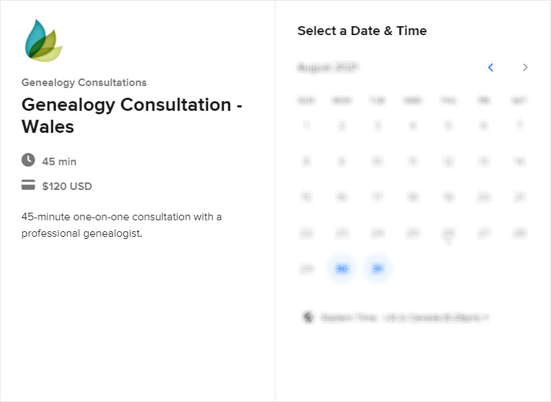 Schedule a Wales Consultation