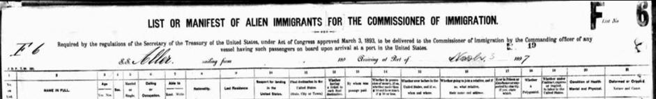 Italian immigrant ancestors
