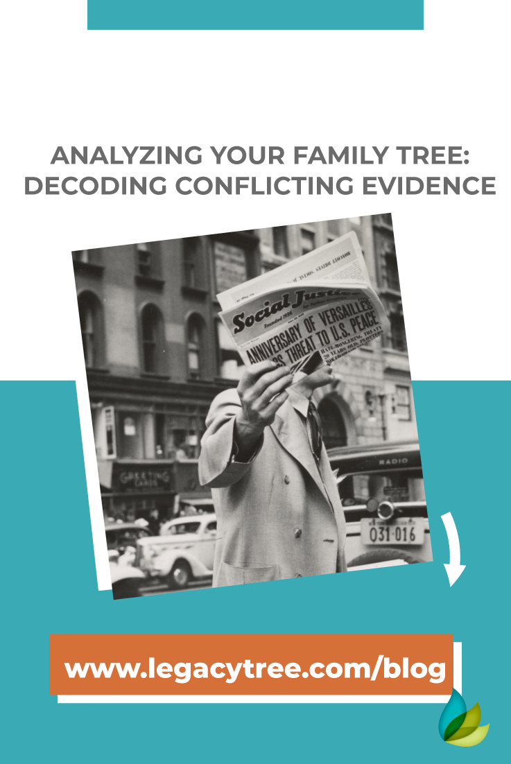 When analyzing your family tree you may encounter conflicting evidence. We share our top tips for resolving conflicts in your family tree!