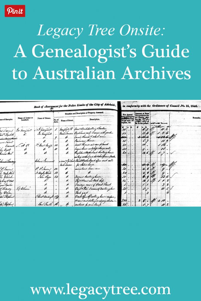 Legacy Tree Genealogists has developed a network of researchers all over the globe to access records for our clients. We had one of our onsite researchers in Australia provide a complete guide to Australian archives, and what genealogy resources you can find at each location. #genealogy #familyhistory #legacytreeonsite #Australia #Australianancestry #archives #genealogyresources