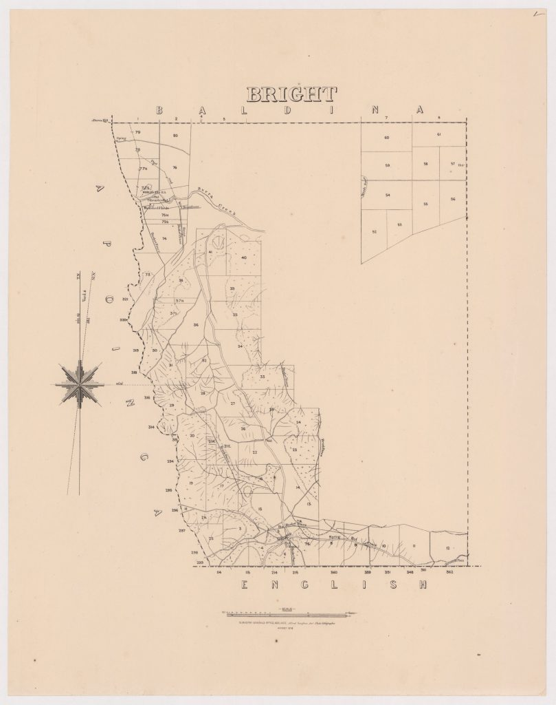Australian archives - State Library of SOuth Australia, Map of Hundred of Bright