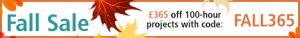 Fall Sale - £365 off 100-hour projects with code: FALL365