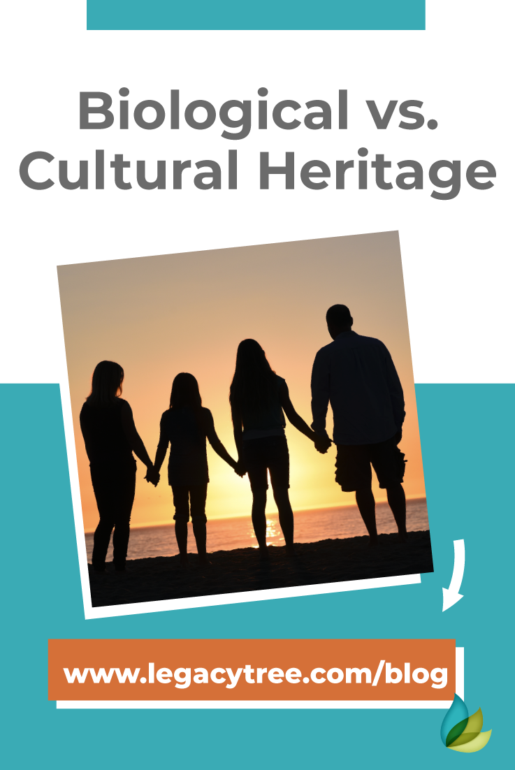 "Biological vs.cultural heritage, also known as nature vs. nurture, is a question withstanding the test of time. Consider what ""family"" means to you."