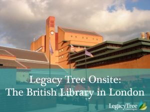 Legacy Tree Onsite--finding British ancestors in India