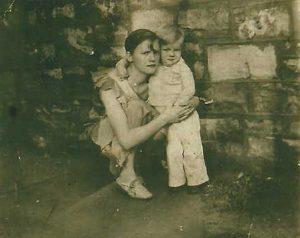 Edith Irene Franklin and son Jim