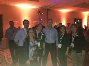 LTG team members at the MyHeritage after-party with MyHeritage CEO Gilad Japhet.
