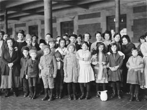 Immigrant children at Ellis Island, 1908.