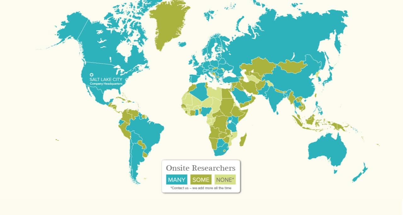Our Worldwide Network of Onsite Genealogy Researchers