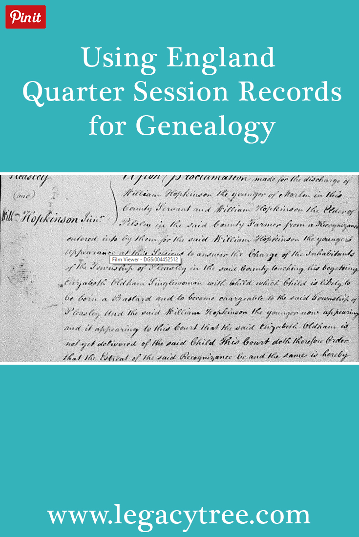 Quarter Session records can prove invaluable to genealogists researching their family history in England. We'll show you where to find these records, and how to incorporate them into your family history research. #familyhistory #genealogy #England #QuarterSession #genealogyrecords #genealogyresearch
