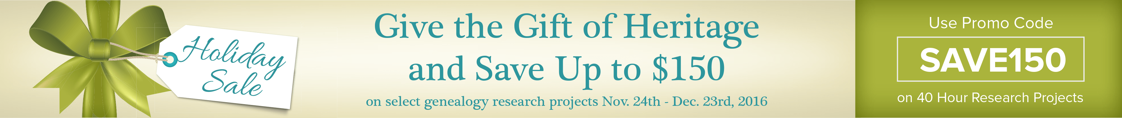 Holiday Sale Use Promo Code SAVE150 on 40 Hours Research Project