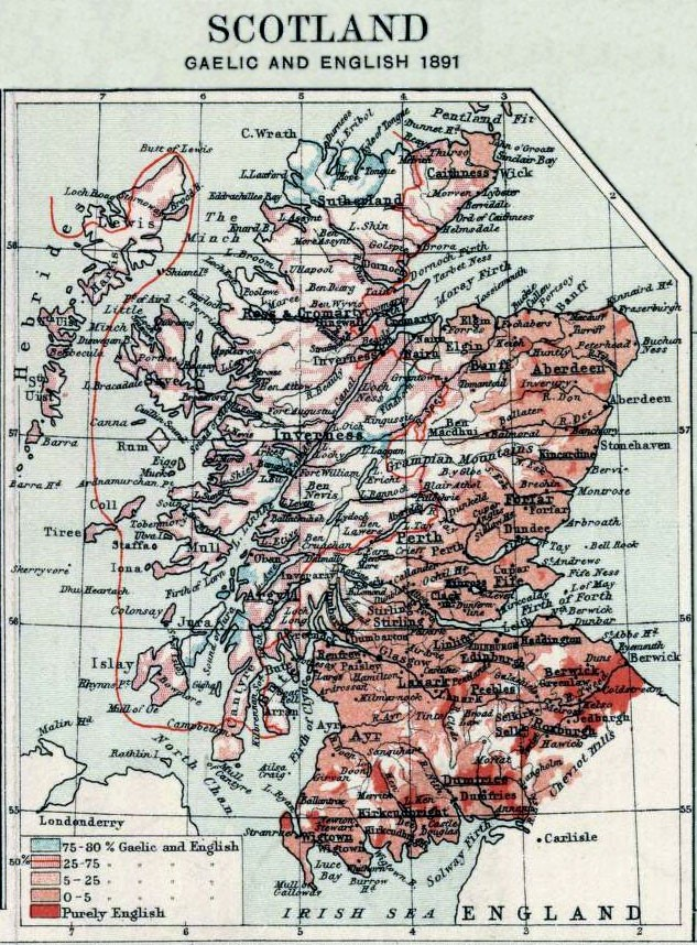 Scottish ancestors language by region