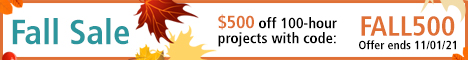 Fall Sale - $500 off 100-hour projects with code: FALL500