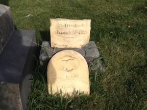 A Horrific Headstone on Halloween