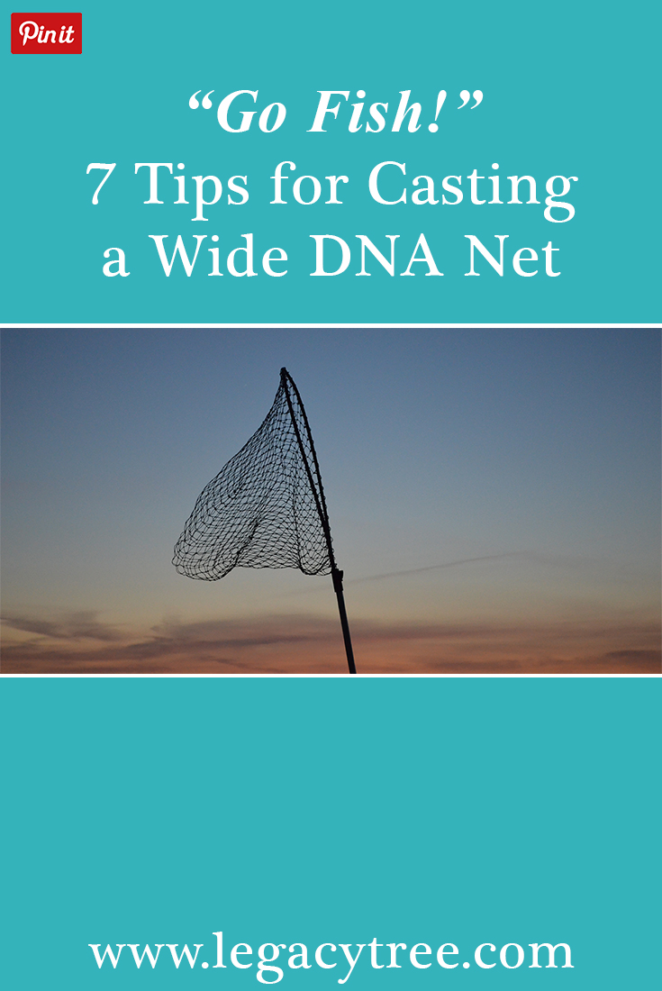 "If you're seeking to identify a biological relationship, one of the most important research strategies you can use it ""casting a wide DNA net"". We'll explain what this means and how to accomplish this."