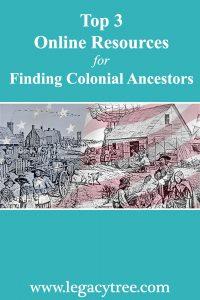 Colonial ancestors