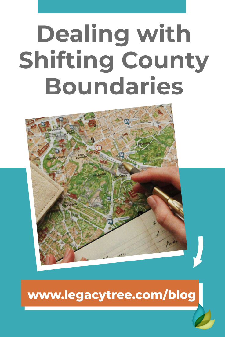 County boundaries that have changed over time can be frustrating in your genealogy research. Here's how to work with shifting county boundaries.