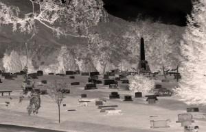 creepy cemetery