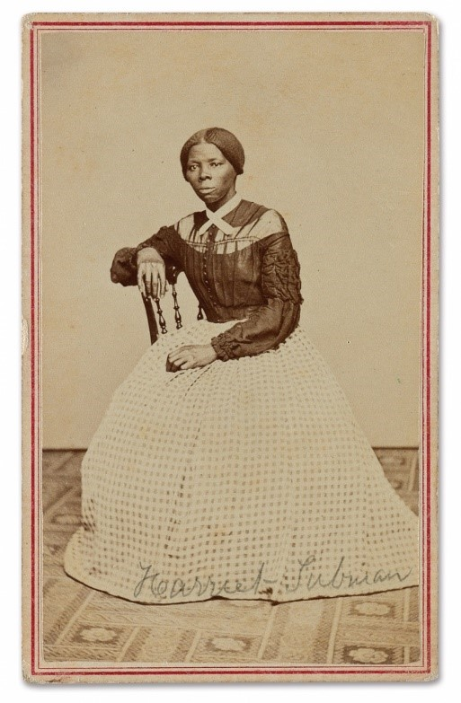 Carte-de-visite of Harriet Tubman,