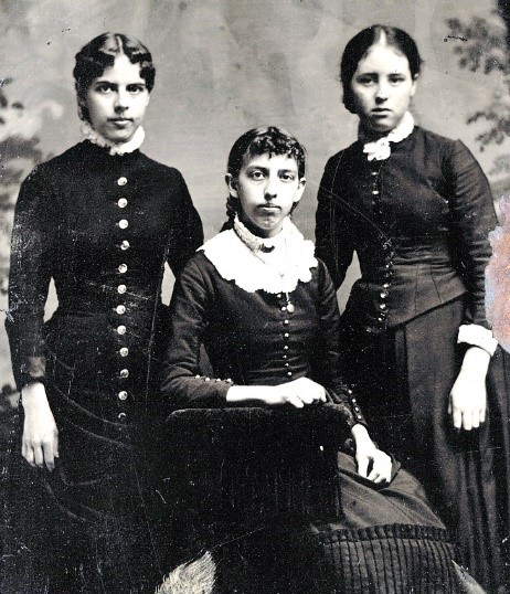 using women's fashion to date old photos - the 1870s