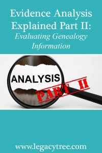 evaluating genealogy information
