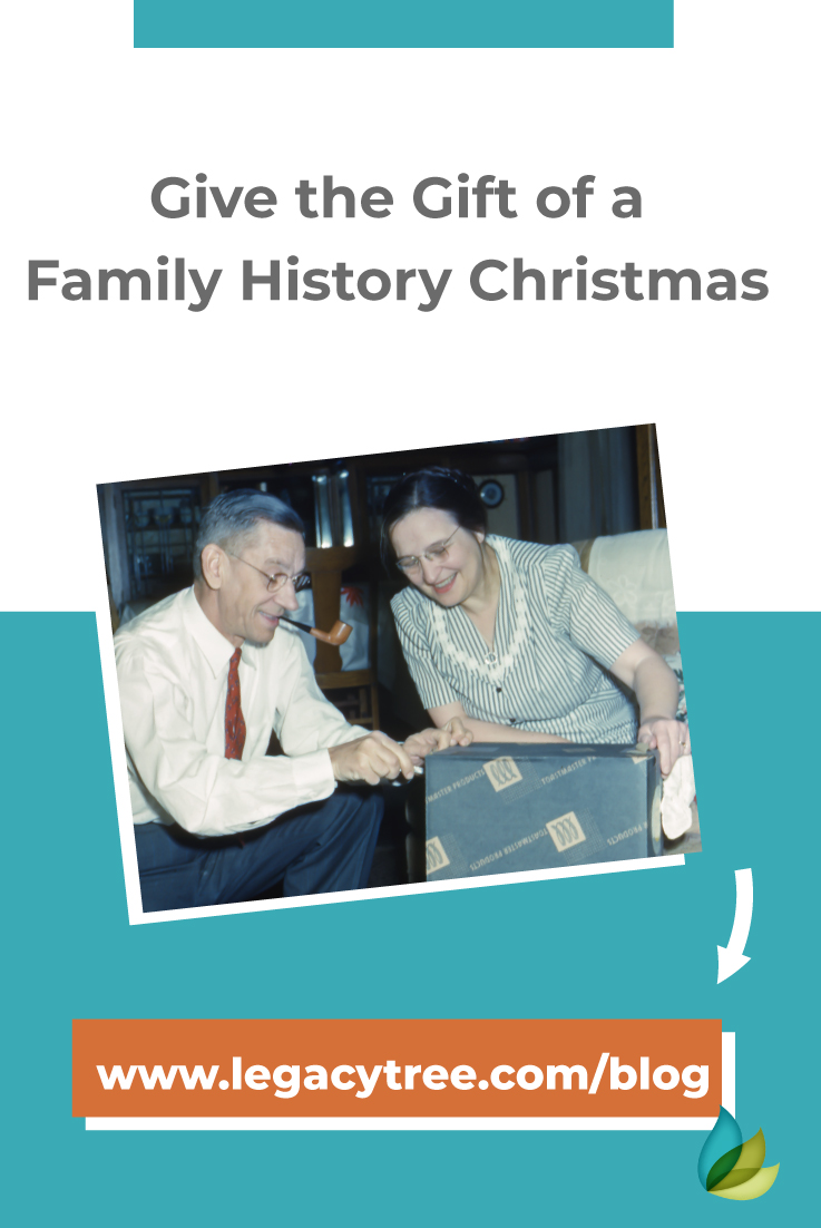 Family history research makes the perfect Christmas gift! Here are 4 ideas to create a memorable and enjoyable holiday season with your family.