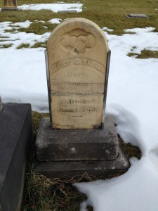 fixed headstone front