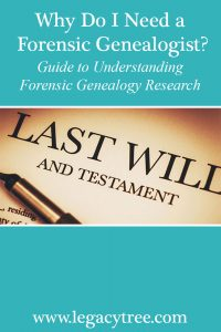 forensic genealogy research