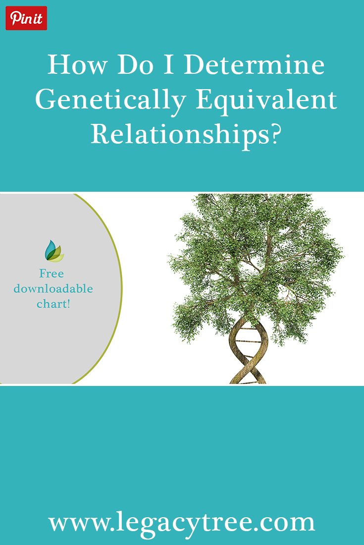 An understanding of genealogical relationships is necessary before diving into genetically equivalent relationships in your family history. This article will explain both key concepts. #DNA #familyhistory #genealogy #freechart #familyhistorycharts