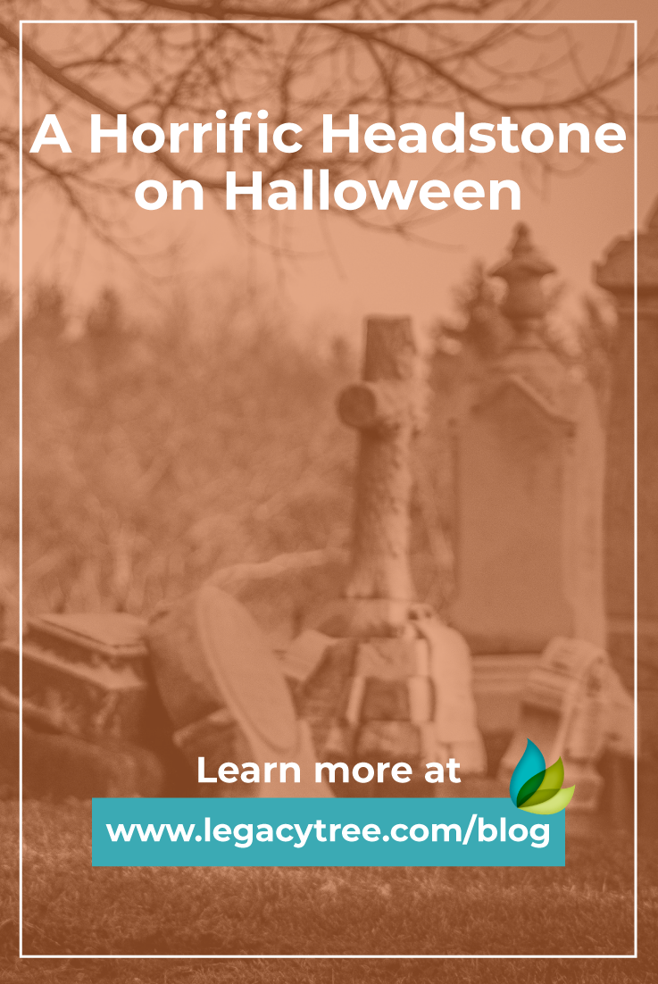 As the Halloween tradition highlights eerie scares, this is how a family rallied together to fix a headstone and bring dignity to an ancestor's life.