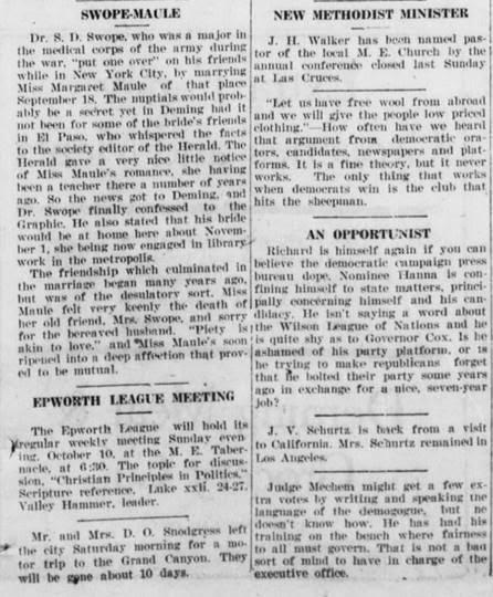 historical newspaper social column example