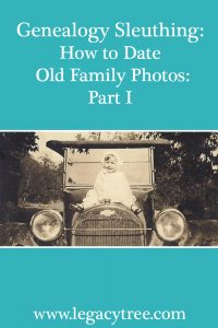 Pin to Pinterest! How to date old family photos