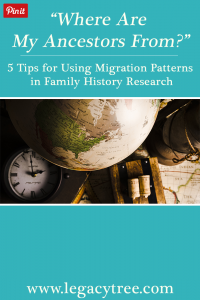 If you're having difficulty pinpointing your family's origins, these tips are for you! We share how to use migration patterns to extend your family history. #DNA #genealogy #familyhistory #genealogyresearch #ancestry #migration #heritage