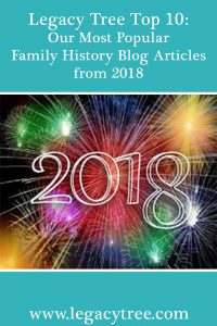 most popular family history blog articles from 2018