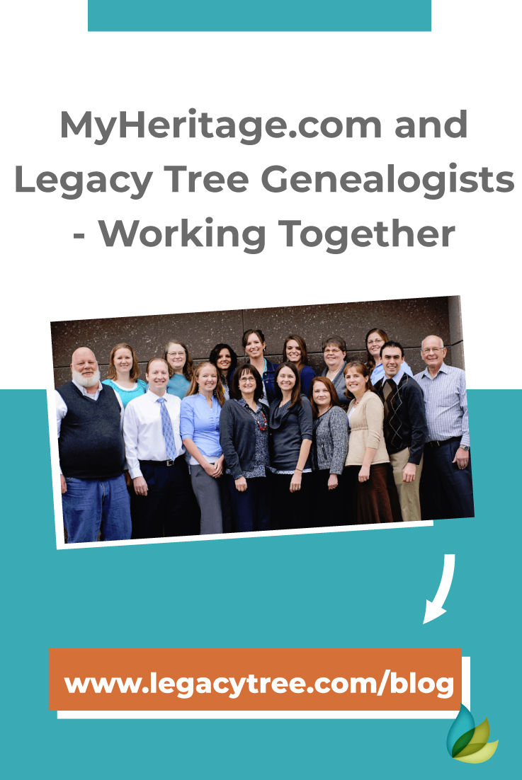 Legacy Tree Genealogists have the privilege of being the recommended research partner of MyHeritage! Learn what makes Legacy Tree the leader in genealogy!