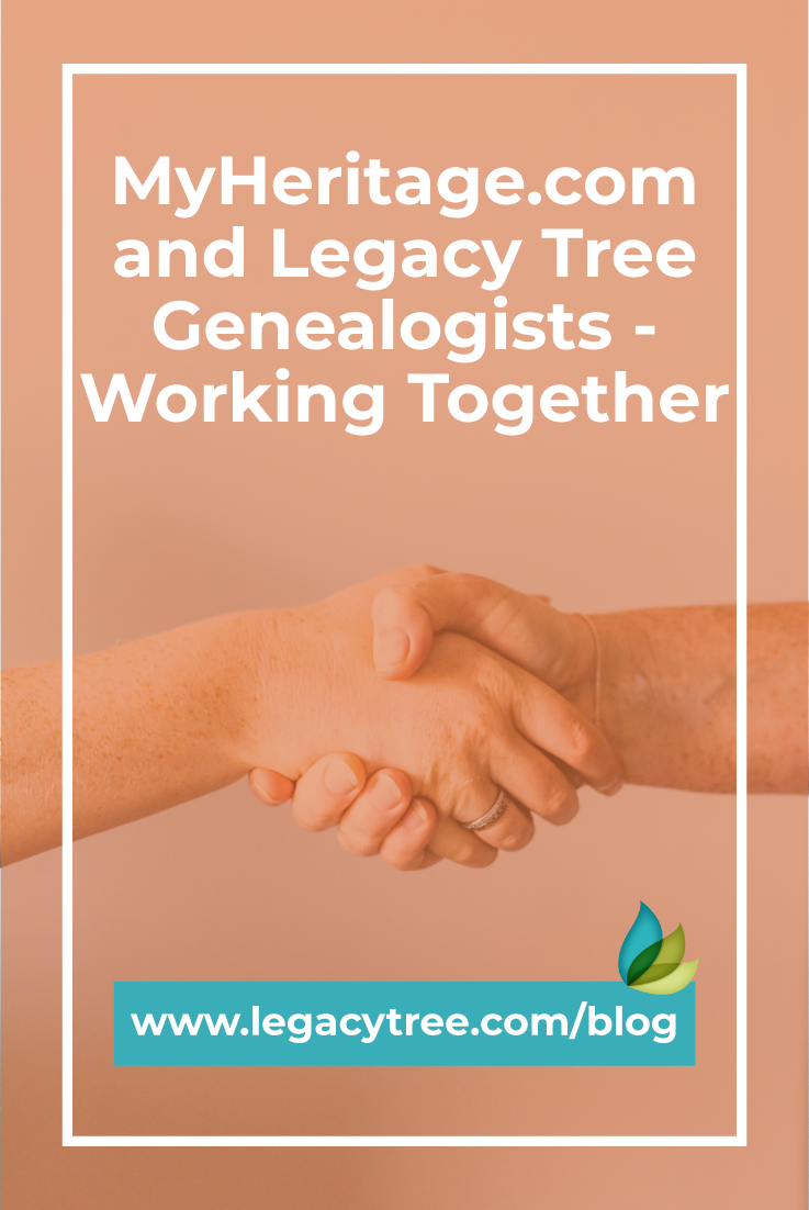Legacy Tree Genealogists have the privilege of being the recommended research partner of MyHeritage! What makes Legacy Tree the leader in genealogy work?