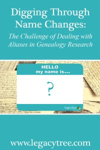 name changes in genealogy research