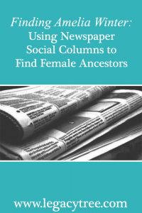 using newspaper social columns for genealogy