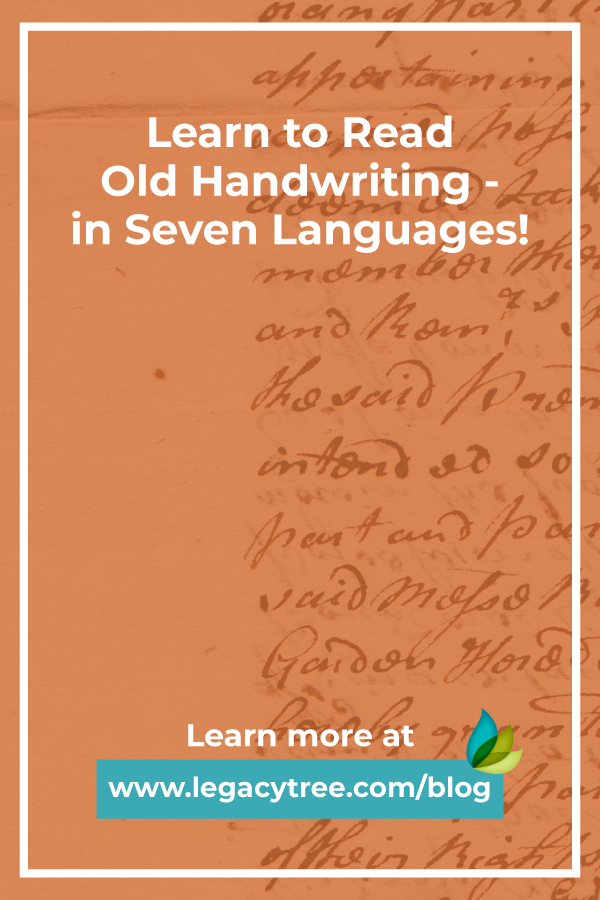 Learn how to read old handwriting and further your search in family history. Use this helpful, and free tool, to help understand 7 different languages.