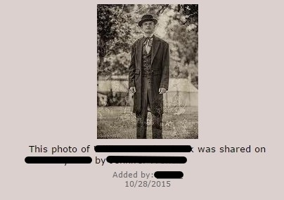 verifying photographs in genealogy research