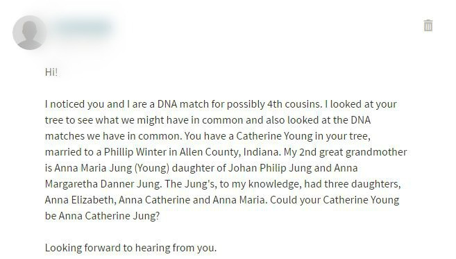 contact form through genealogical DNA test site