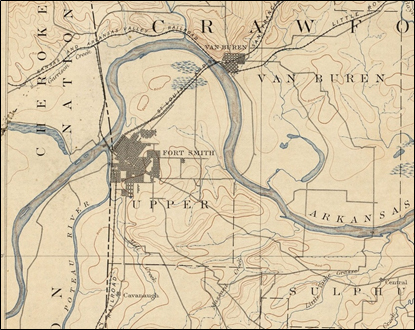Topographical Map of Fort Smith