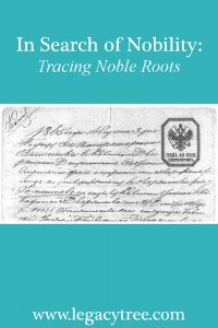 tracing nobility