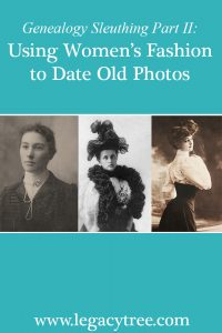 using women's fashion to date old photos